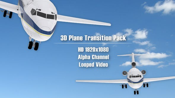 Thumbnail for 3D Plane Transition Pack