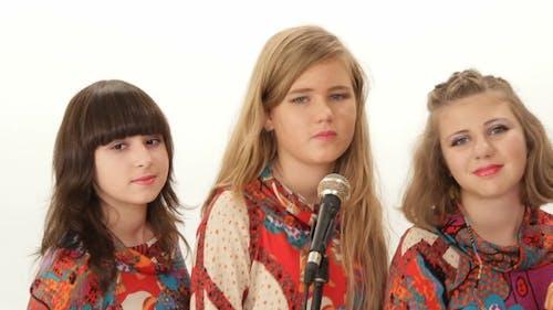 Chorus Gruppe Von Mädchen Auf Vocals