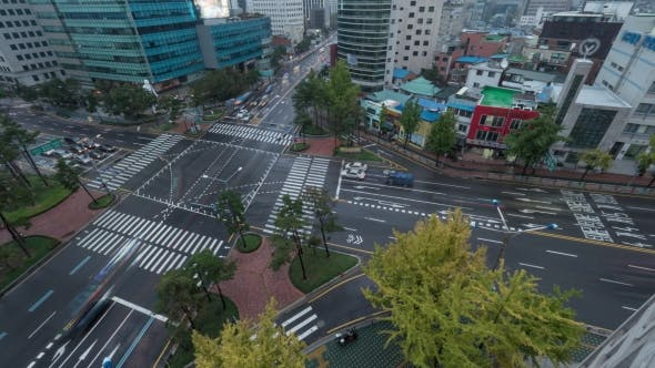 Thumbnail for Traffic On Intersection In Seoul, South Korea