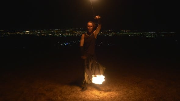 Thumbnail for Fire Show Festival. Dance With Fire Poi