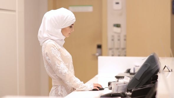 Thumbnail for Beautiful Muslim Girl In Reception Hotel