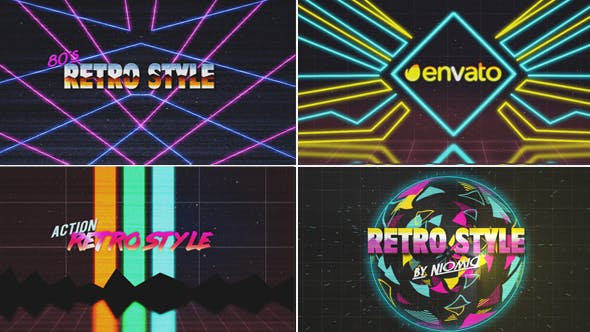 Thumbnail for 80's Retro Logo Reveal Kit