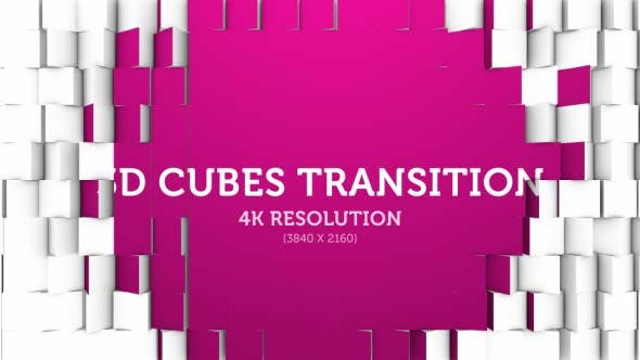 Cover Image for 3D Cubes Transition 01 - 4K