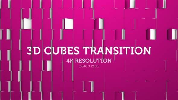 Thumbnail for 3D Cubes Transition 02 - 4K