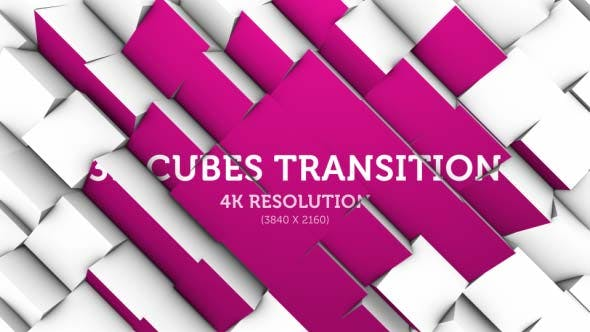 Thumbnail for 3D Cubes Transition 06 - 4K