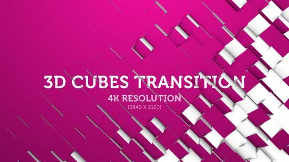 Thumbnail for 3D Cubes Transition 07 - 4K
