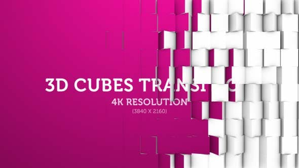 Thumbnail for 3D Cubes Transition 08 - 4K