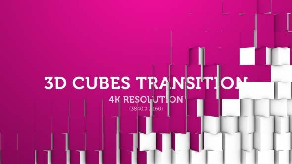 Thumbnail for 3D Cubes Transition 09 - 4K