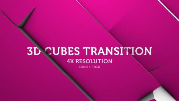Thumbnail for 3D Cubes Transition 10 - 4K