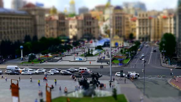 Transport Miniature On Independence Square In Kiev