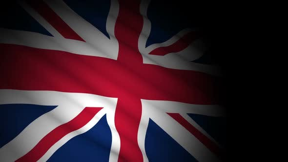 Thumbnail for United Kingdom Flag Blowing in Wind