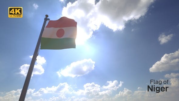 Thumbnail for Niger Flag on a Flagpole V4 - 4K