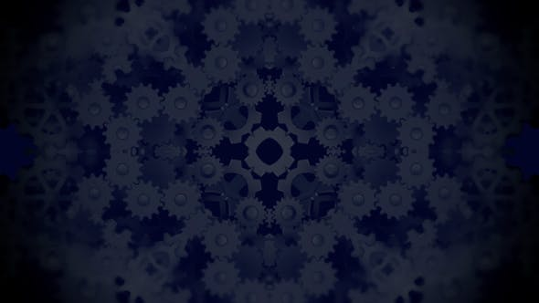 Thumbnail for Gears Kaleidoscope Background