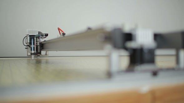 Thumbnail for Head Of Laser Cutting Machine Goes Alongcrossbar