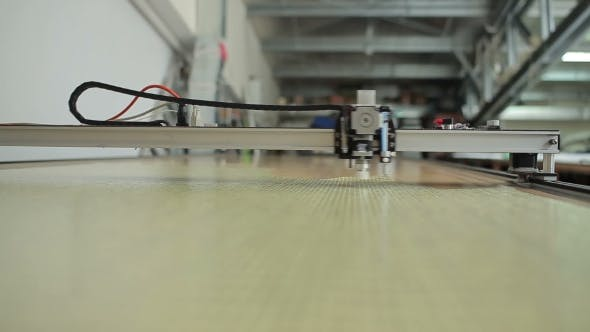 Thumbnail for The Head of Laser Cutting Machine Spins