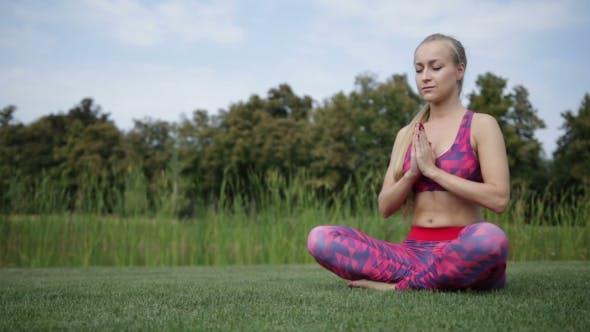 Thumbnail for Woman Making Yoga Meditation In Lotus Posture