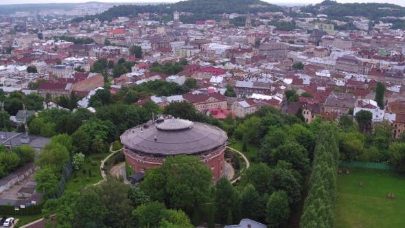 Thumbnail for Aerial Old City Lviv, Cytadel Ukraine