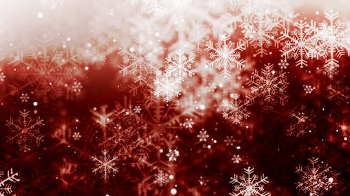 Christmas Red Snow Flakes