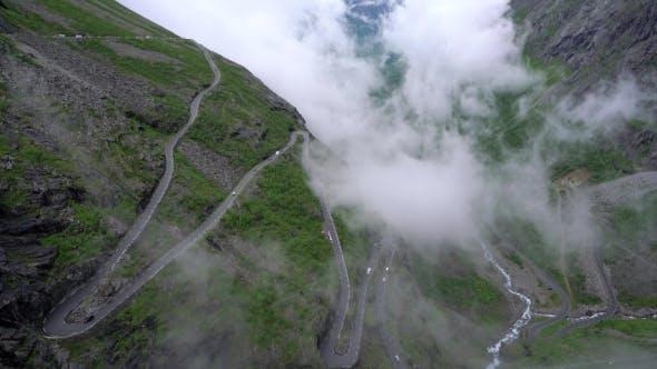 Cover Image for Troll's Path Trollstigen Or Trollstigveien Winding Mountain Road.