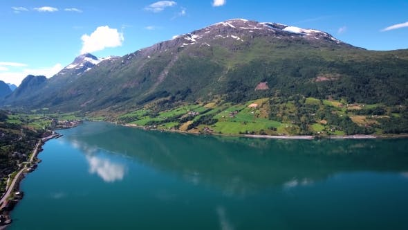 Thumbnail for Aerial Footage Beautiful Nature Norway.
