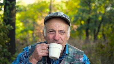 Old Man Drinks Tea