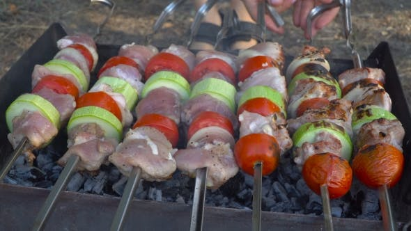 Thumbnail for Barbecue With Meat On Grill