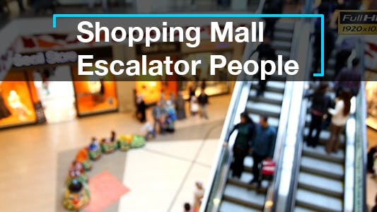 Thumbnail for Shopping Mall Escalator People