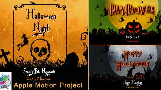 Thumbnail for Halloween Openers - Apple Motion