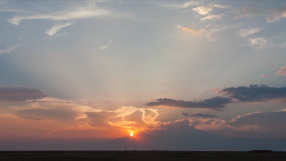 Sunset in the Steppes