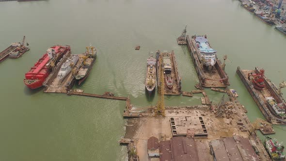Cover Image for Cargo and Passenger Seaport in Surabaya, Java, Indonesia