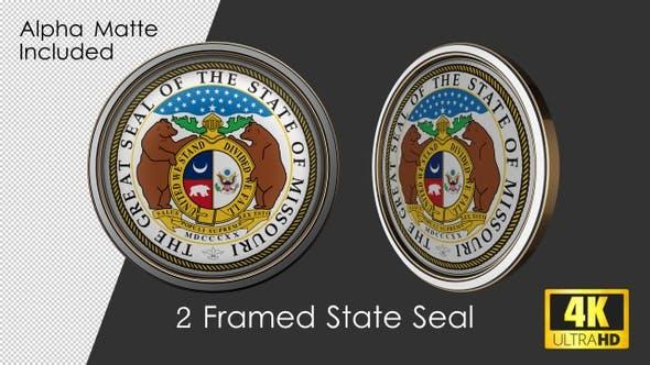 Framed Seal Of Missouri State