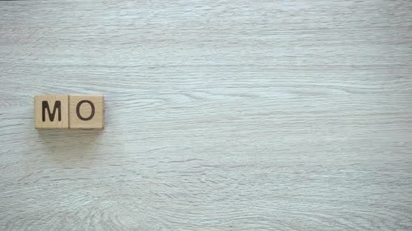 Thumbnail for Motivation, Stop Motion Word on Wooden Cubes, Positive Thinking Goals and Dreams