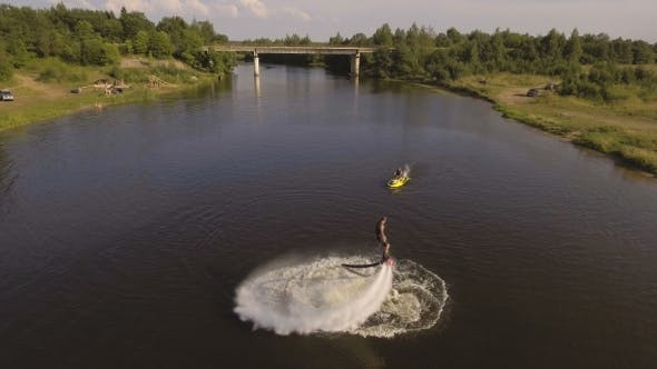 Thumbnail for Fly Board Rider On The river