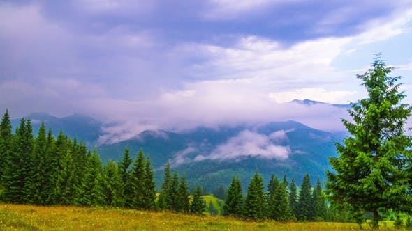 Thumbnail for Mountain Landscape with Clouds