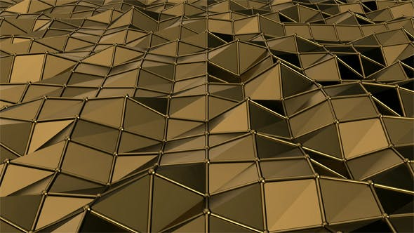 Cover Image for Shiny Golden Polygons Waving