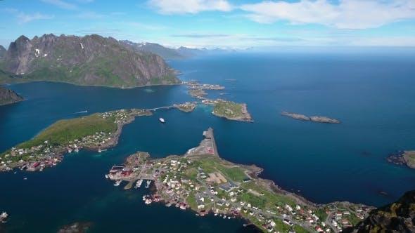 Cover Image for Lofoten Archipelago Islands Aerial Footage