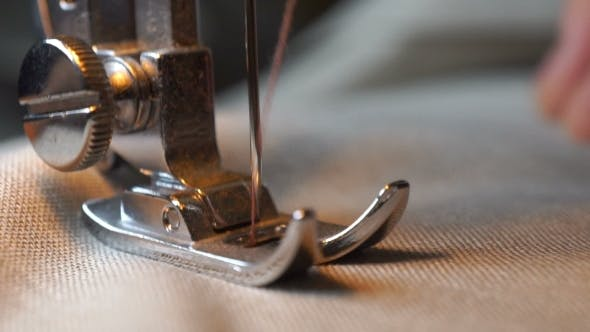Thumbnail for Footage Of Woman Sews On The Sewing Machine.