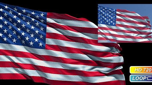 Thumbnail for Realistic USA flag