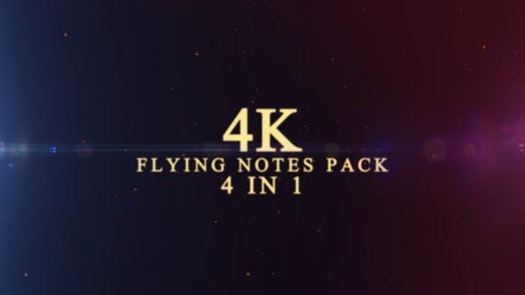 4K Flying Notes Pack