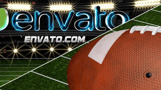 American Football Ball Logo Reveal