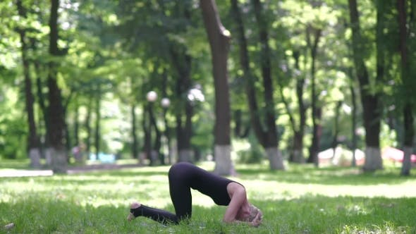 Thumbnail for Woman Doing Headstand.
