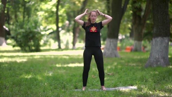 Woman Doing Anti-stress Massage Of The Scalp.