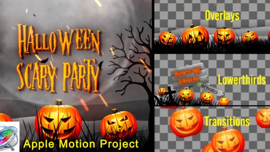 Thumbnail for Halloween Teaser Promo Pack - Apple Motion