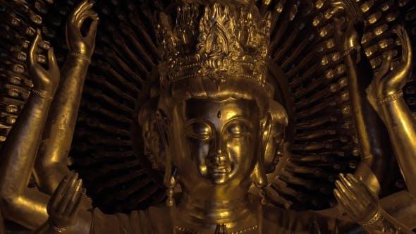 Buddhist Statue Of Quan Am In Bai Dinh Temple, Vietnam