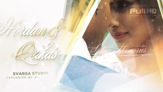 Glas-Hochzeitserinnerungen