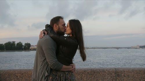 Beautiful Couple In Love Swirling Around