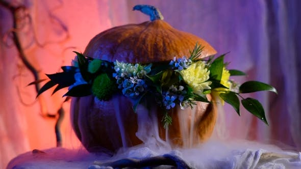 Thumbnail for Halloween, Filled With Holiday Traditions, Symbols And Details. Flower Arrangement On The Basis Of