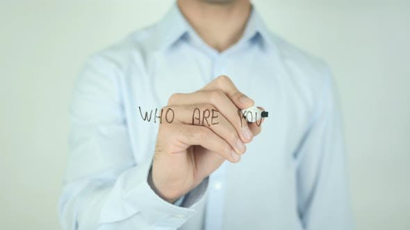 Thumbnail for Who Are You ?, Writing On Transparent Screen
