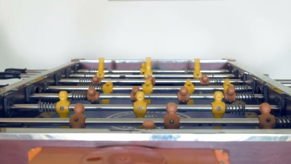 Thumbnail for People Are Playing Table Football Soccer Game