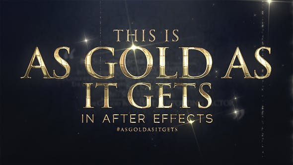 As Gold As It Gets - Awards Broadcast Package